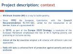 project description context