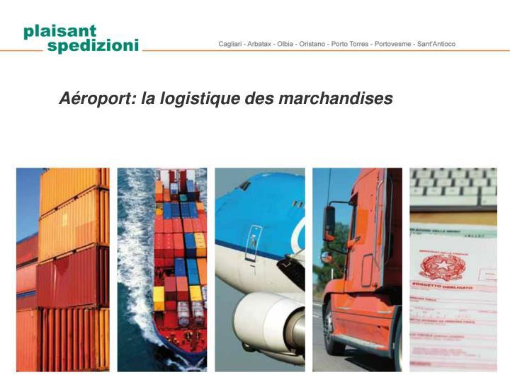 Aéroport: la logistique des marchandises