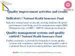quality improvement activities and results1
