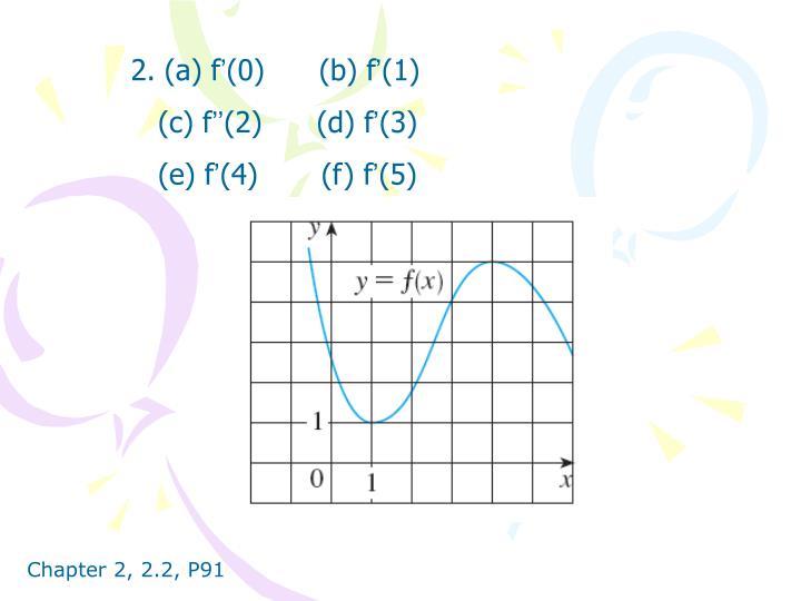 2. (a) f