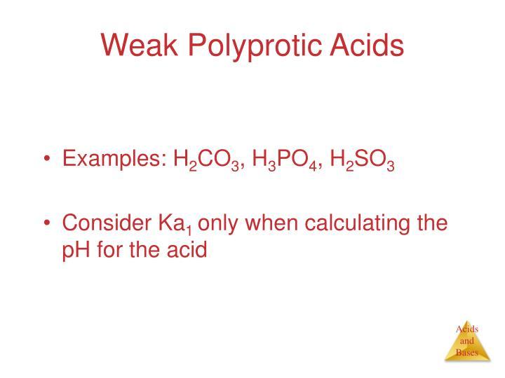 Weak Polyprotic Acids