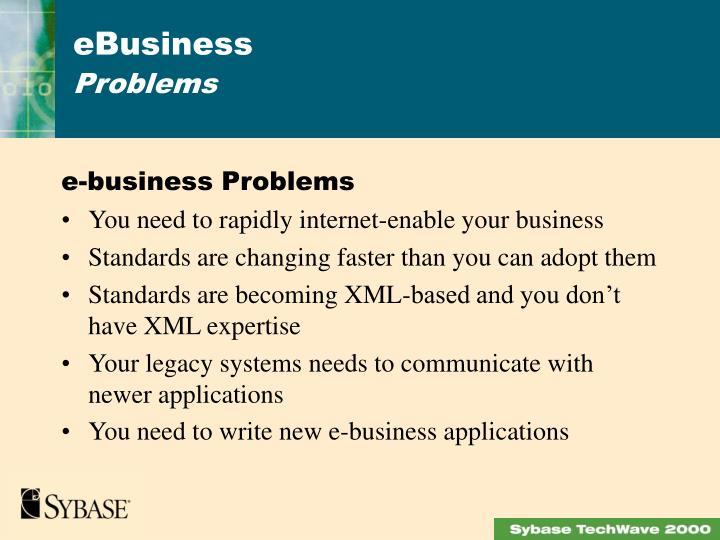 e-business Problems