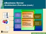 ebusiness server architecture overview cont
