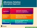 ebusiness solution conceptual approach