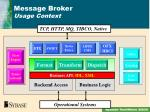 message broker usage context