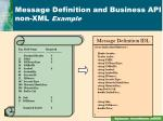 message definition and business api non xml example