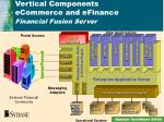 vertical components ecommerce and efinance financial fusion server