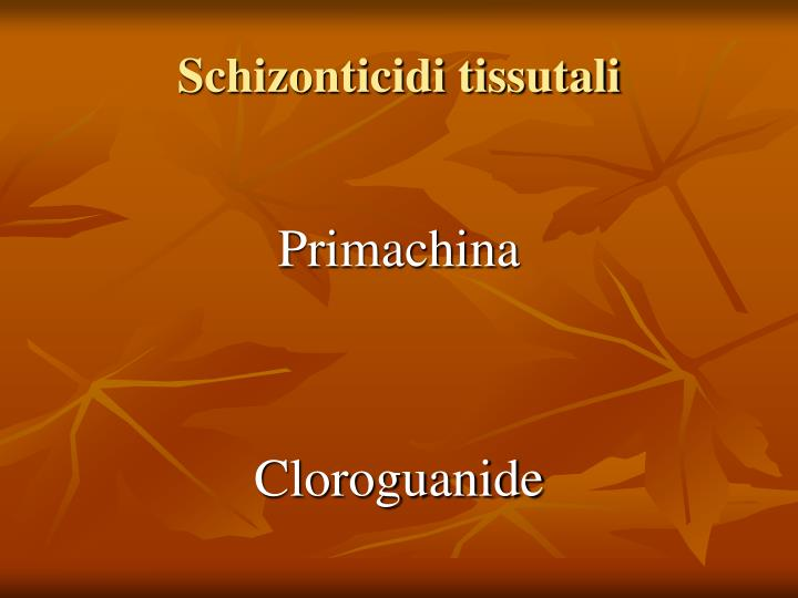 Schizonticidi tissutali