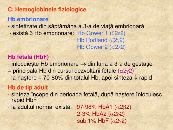 C. Hemoglobinele fiziologice