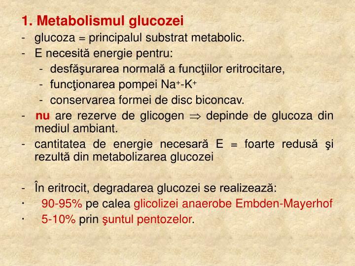 1. Metabolismul glucozei
