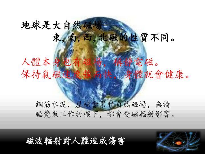 地球是大自然磁場