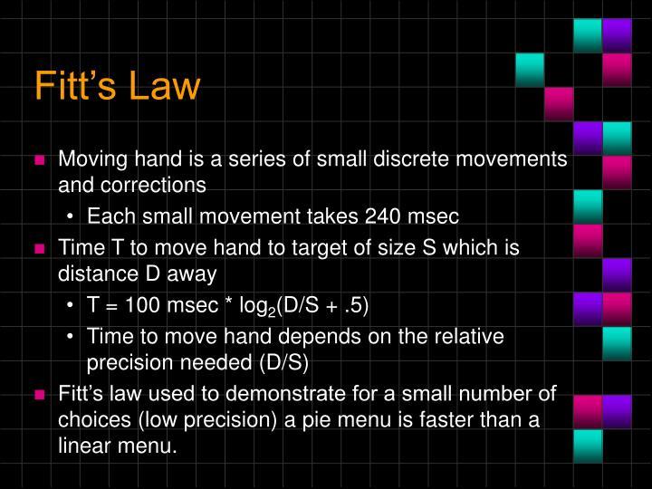 Fitt's Law