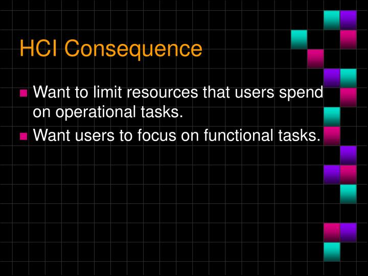 HCI Consequence