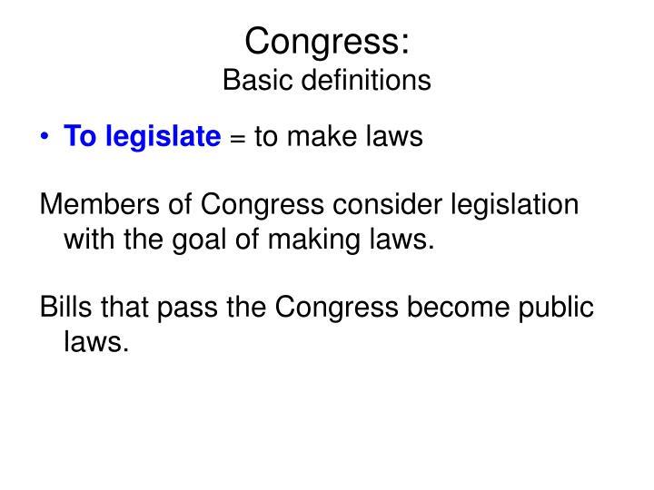 Congress: