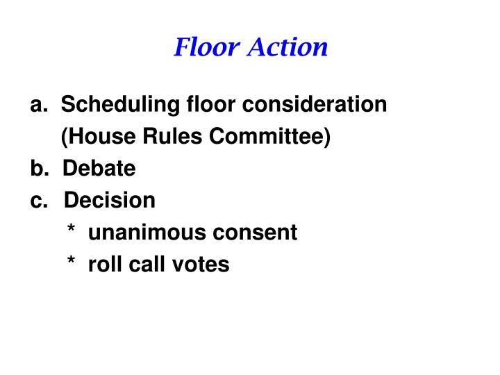 Floor Action