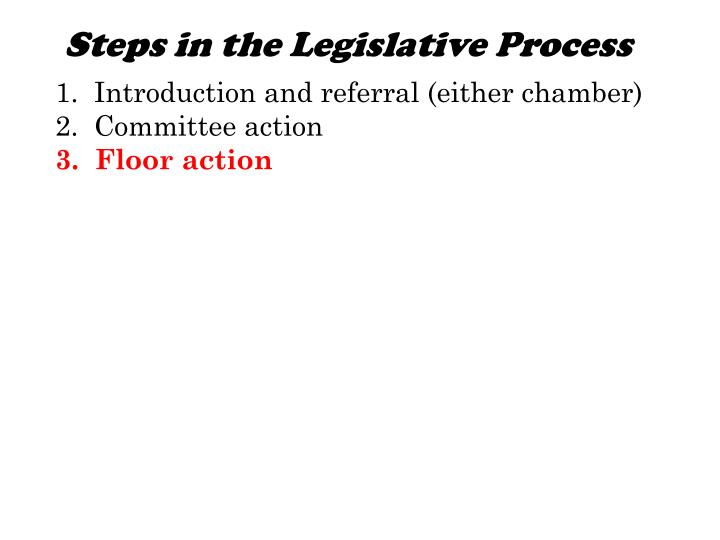 Steps in the Legislative Process