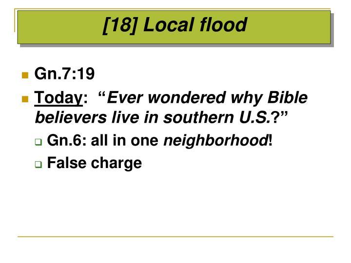 [18] Local flood