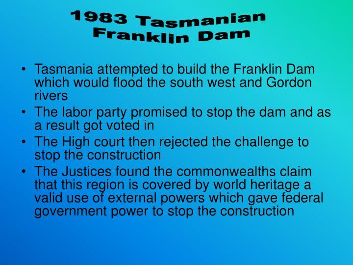 1983 Tasmanian