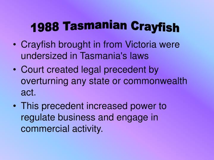 1988 Tasmanian Crayfish