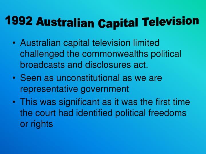 1992 Australian Capital Television