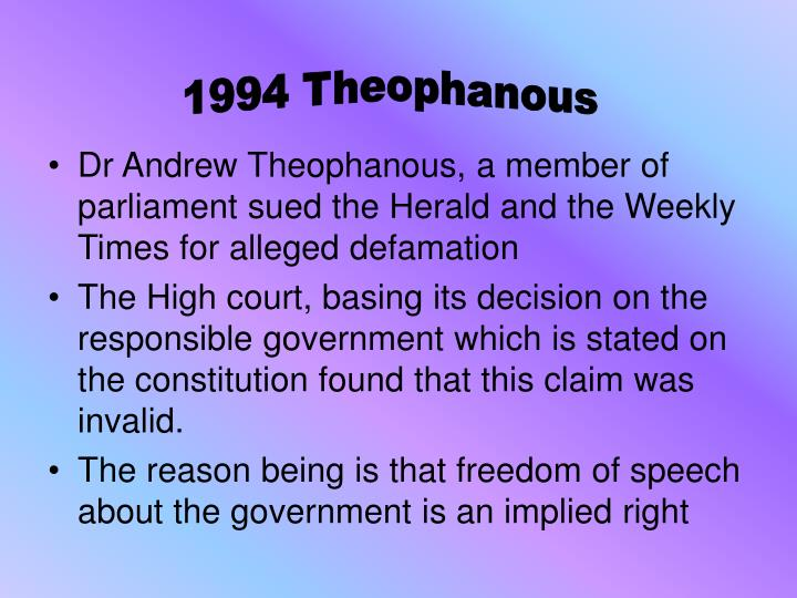 1994 Theophanous