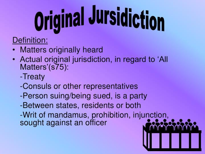 Original Jursidiction
