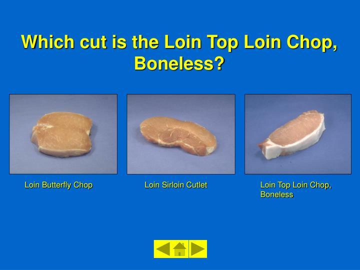 Loin Butterfly Chop