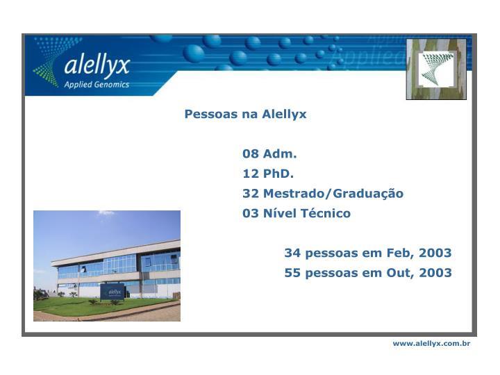 Pessoas na Alellyx