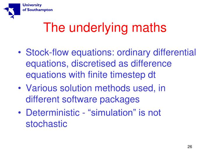 The underlying maths
