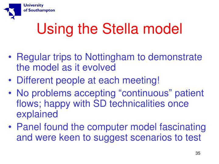 Using the Stella model