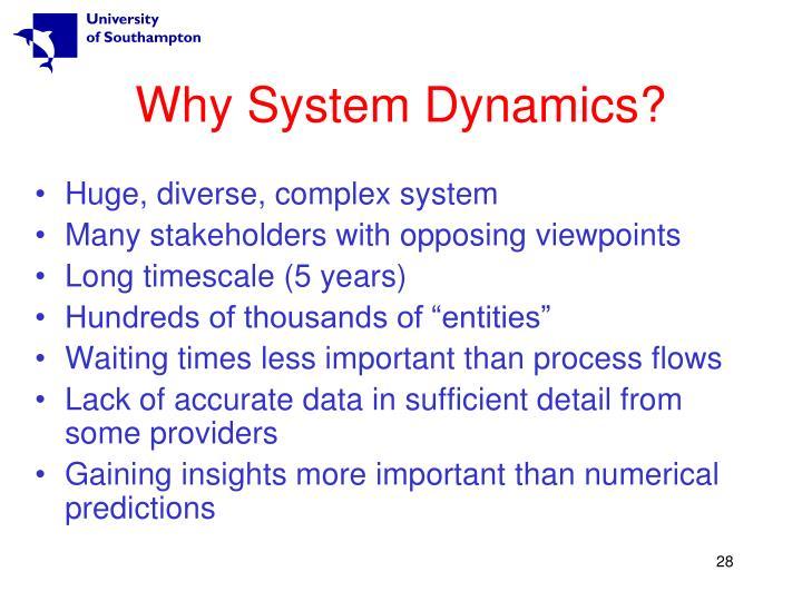 Why System Dynamics?