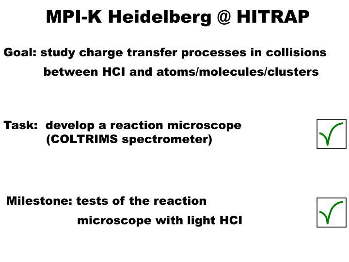 MPI-K Heidelberg @ HITRAP