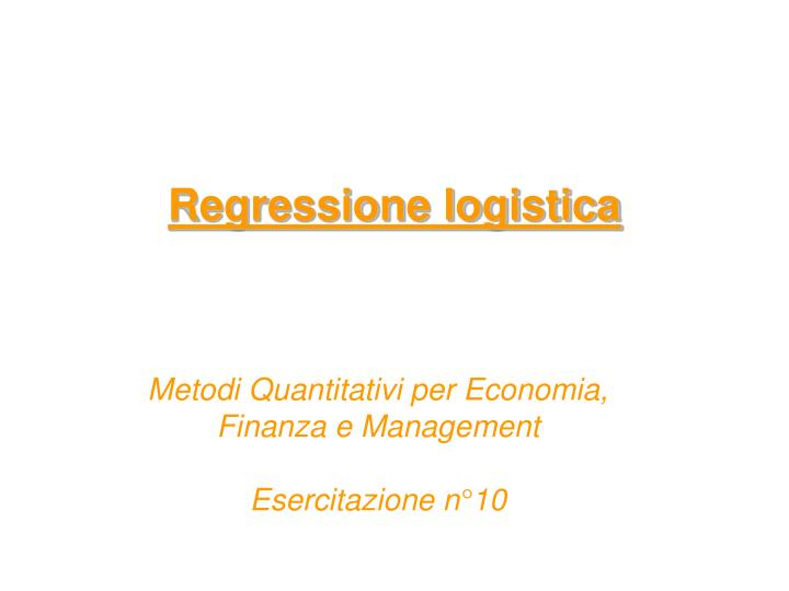 Regressione logistica