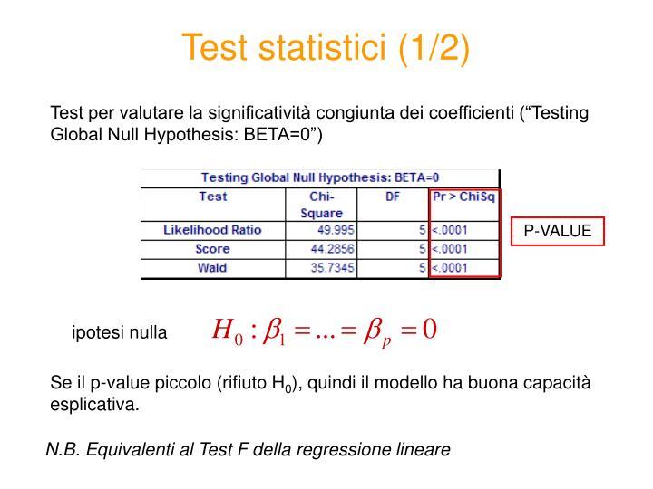 Test statistici (1/2)