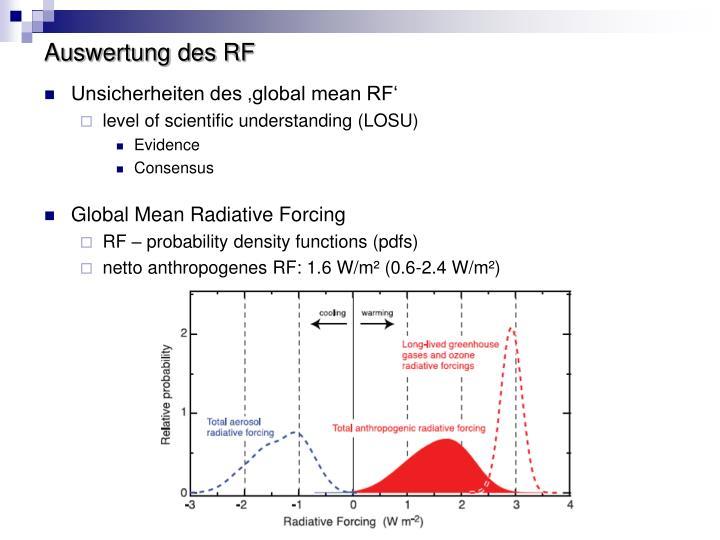 Auswertung des RF