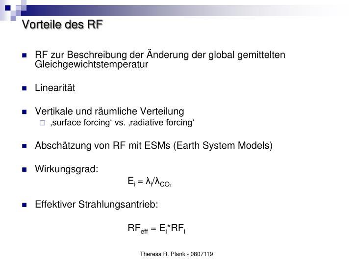 Vorteile des RF