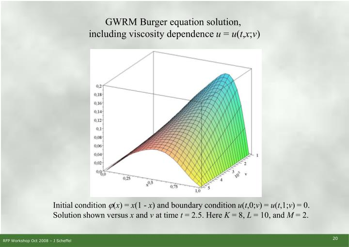 GWRM Burger equation solution,