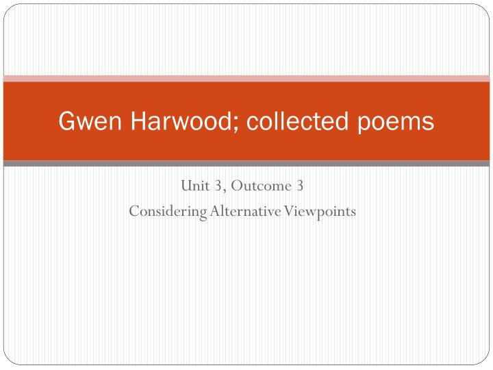 prize giving gwen harwood essay