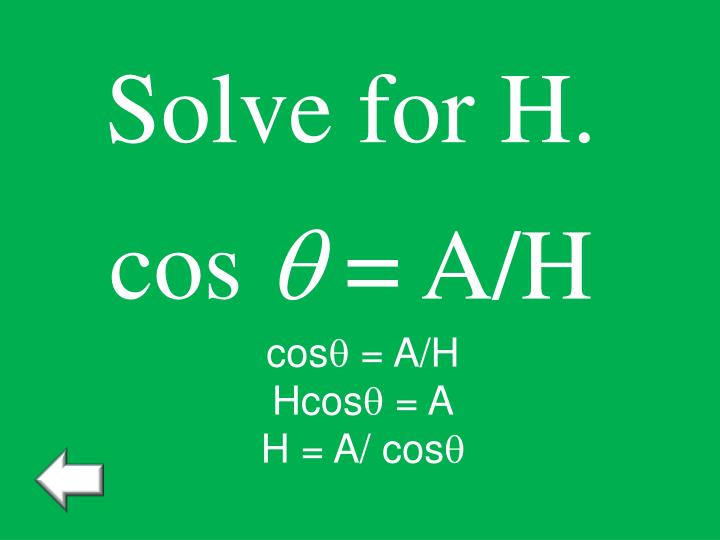 Solve for H.