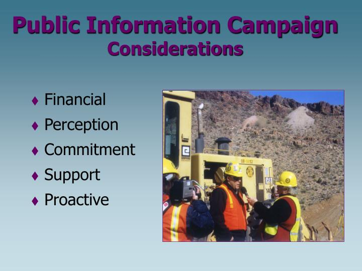 Public Information Campaign