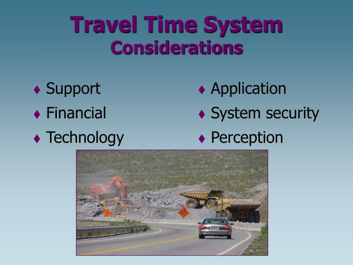 Travel Time System