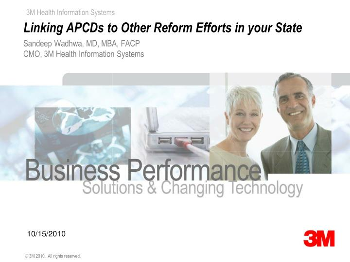 Linking apcds to other reform efforts in your state