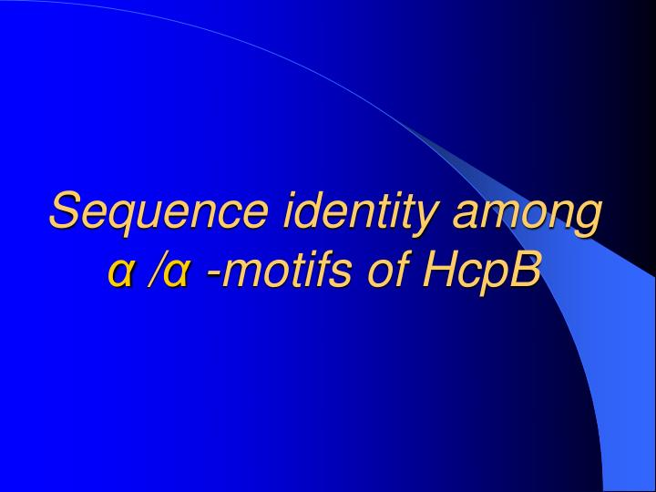 Sequence identity among