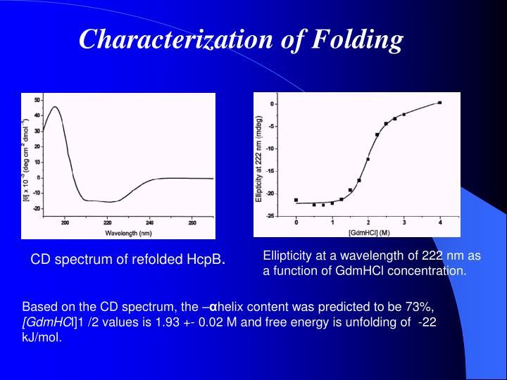 Characterization of Folding