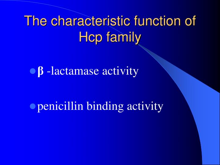 The characteristic function of Hcp family
