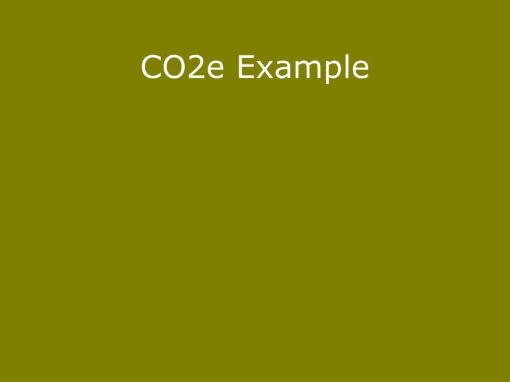 CO2e Example