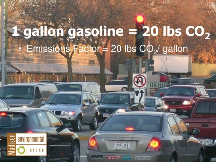 Emissions Factor = 20 lbs CO