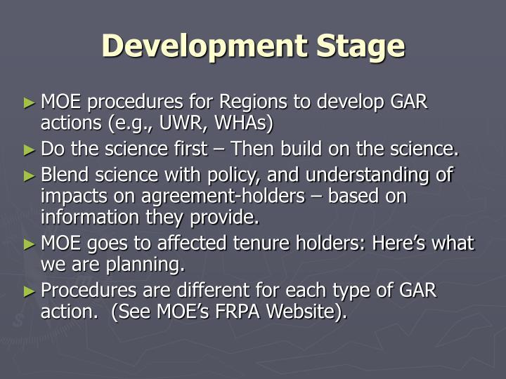 Development Stage