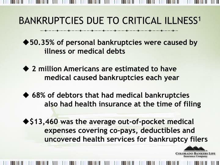 BANKRUPTCIES DUE TO CRITICAL ILLNESS
