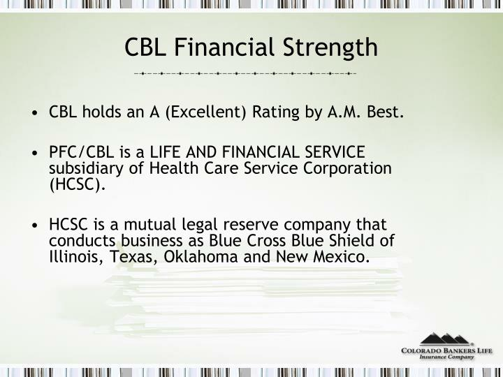 Cbl financial strength